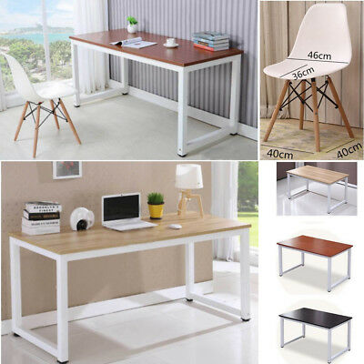 Home Office Desk Computer PC Writing Table Chairs WorkStation Wooden Furniture