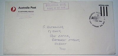 Postmark Collectors - Used Official Env Pmk'd PHILATELIC SALES GPO HOBART 1984