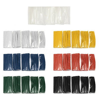 100Pcs Heat Shrink Tube Car Assorted Electrical Cable Wire Wrap Tubing Sleeves