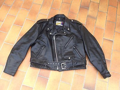 Perfecto Schott Made In Usa Taille 48 Blouson Cuir Noir