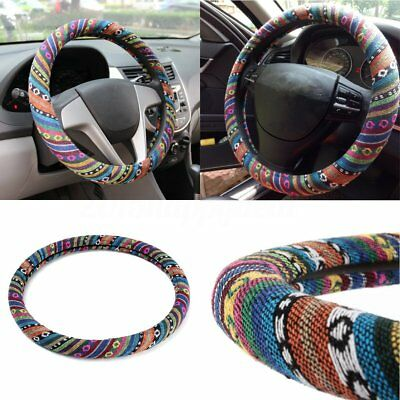 Universal Car Steering Wheel Cover Glove Protector Comfortable Colorful Stripes