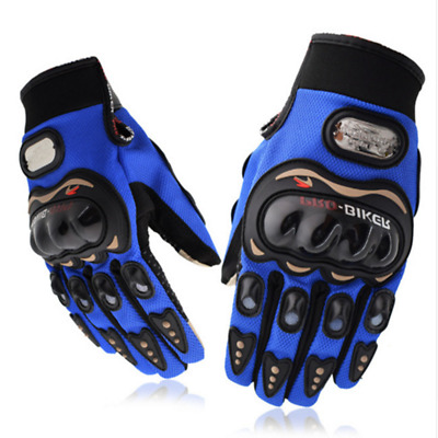 1 Pair Wearable Cycling Motorcycle Gloves Racing Breathable Full Finger Mittens