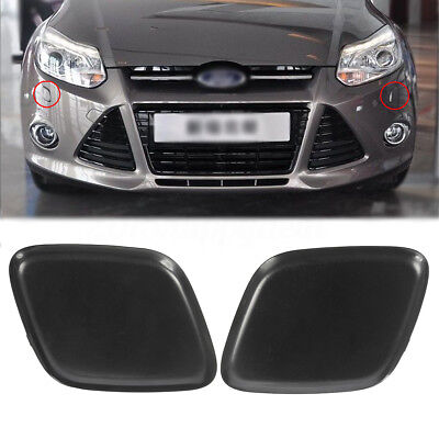 Bumper Headlamp Headlight Washer Jet Cover Cover Cap For Ford Focus 2012-2014