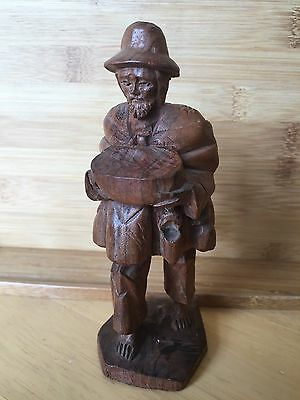 Unusual South American Colombian Indian Carved Wooden Figure