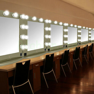 Lighted Hollywood Makeup Vanity Mirror w/LED Bulbs Stage Beauty Mirror Dimmable
