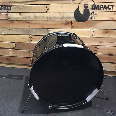"""Individual 22"""" x 16"""" Select Hardwood Bass Drum - Black Wrap with Black Fittings"""