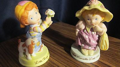 Vintage 1983 Avon Boy and Girl Figurines,,Cherished Moments,, & Little Things,,,