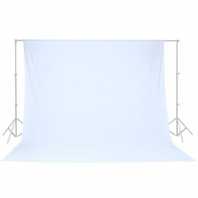 White Muslin Backdrop Photo Studio Photography Background 100% Cotton 10 X 10 Ft