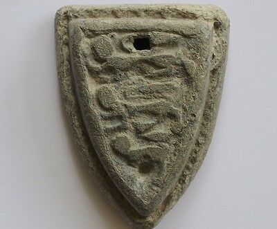 Stunning Condition & Large Medieval Trade Weight With Arms Of England (3 Lions)