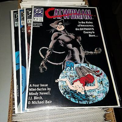 Catwoman (1989) Lot - Complete Series Set w/#s 1-4, Higher Grade