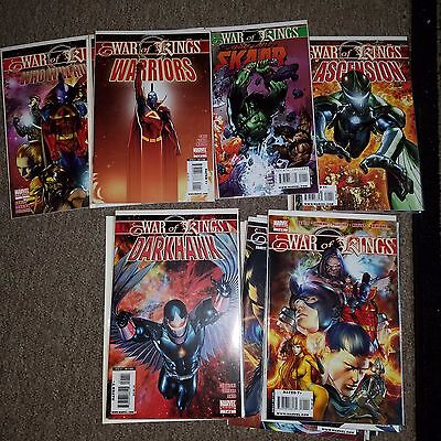 War of Kings Lot - Complete Series Set w/#s 1-6 + Many Tie-Ins, Higher Grade