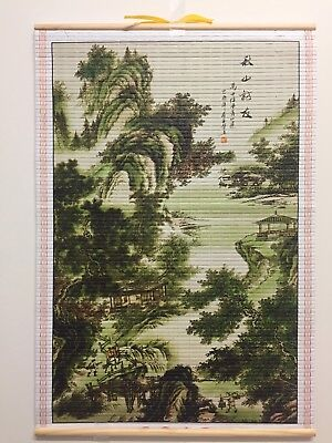 (Landscape) Paper Cane Wall Painting Art Scrolls