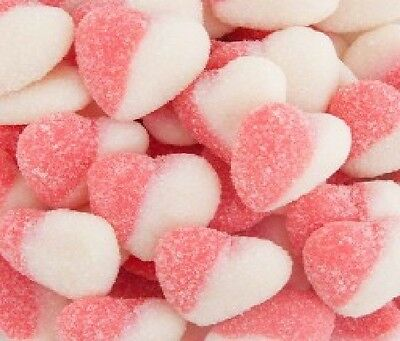 Pink & White Sour Hearts 1Kg Wedding Candy Buffet Lollies