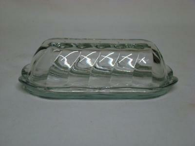 Anchor Hocking Clear Glass Butter Dish with Dome Lid