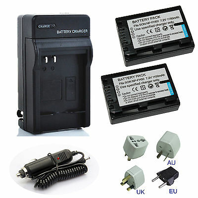 1150mAh NP-FH50 Replacement Li-ion Battery Charger Pack For Sony NP-FH50 Camera