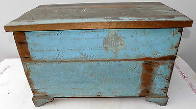 Trunk teak recovery dalle boats industrial cm57x31x37 vintage fume
