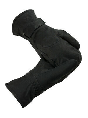 Horze Leather 3-Finger Mittens - Horse Riding Gloves