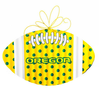 Oregon Ducks Corrugated Metal Football Door Decor