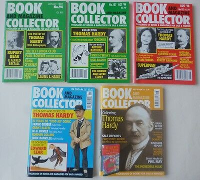 Book and Magazine Collector - 5 different on Thomas Hardy