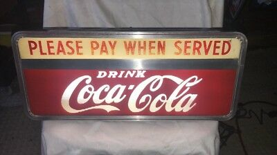 Vintage 1950's Drink Coca-Cola Countertop Light-Up Price Brothers