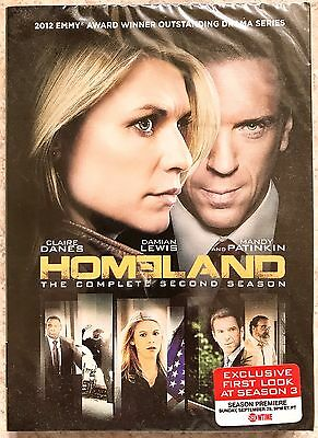 HOMELAND: The Complete Second Season~DVD~2013~4-Disc Set~NEW/FACTORY SEALED~L@@K