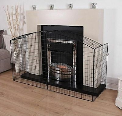 Vintage Fireplace Screen Baby Child Proof Hearth Guard Nursery Safety Cover Eur 51 67