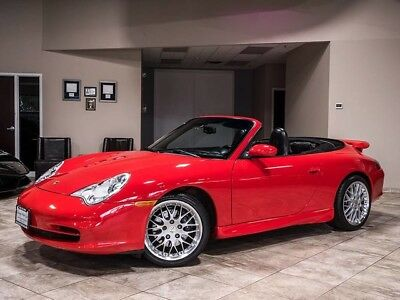 2002 Porsche 911  2002 Porsche 911 Carrera Cabriolet Red Comfort Pkg Technic Pkg Rear Wing LOADED!