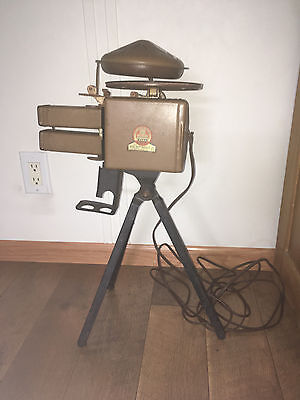 1930's Uncle Sam's Movie Projector Tracer Durable Toy Duratone Records w/ Tripod