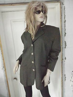 Vintage CooL~CHECK Plaid  INDIE RocK~Boyfriend BLAZER/Jacket~GIANNI VAIENTI -14