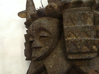 RARE Headdress Helmet very old Autentic Africa 19c.