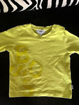 Baby Boys Hugo Boss Designer Long Sleeve T-shirt 6month EXCELLENT CONDITION