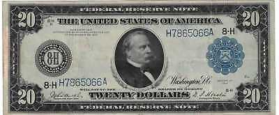 1914 $20 Federal Reserve Note Choice VF