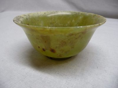 Carved Chinese Jade Bowl Cup