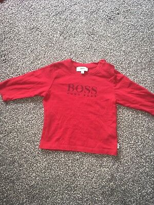 Baby Boys Hugo Boss Designer Long Sleeve T-shirt 6 Month