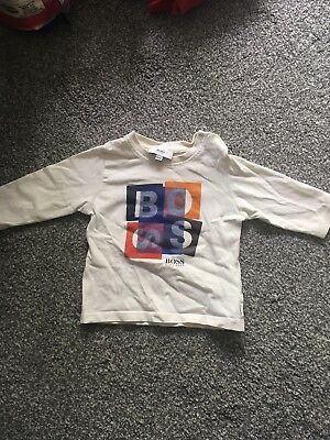 Baby Boys Hugo Boss Designer Long Sleeve T-shirt 6month GOOD CONDITION