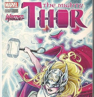 The Mighty Thor 5 Vol 2 Rare Laura Braga Women Of Power Variant
