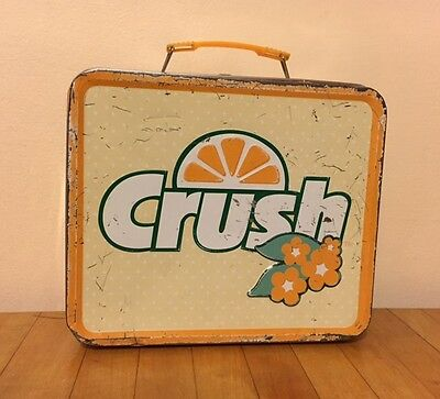 RARE Vtg-Style HAVE A ORANGE CRUSH ON ME Soda Metal Lunch Box/Container/Tin/Case
