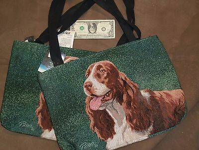 Springer Spaniel Tapestry Tote by Linda Pickens
