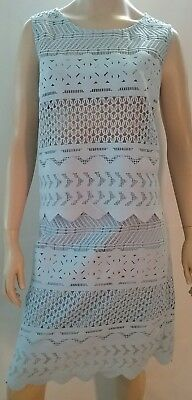 TABLE EIGHT ladies size 18 skirt suit lace top and skirt 2 piece set pale blue