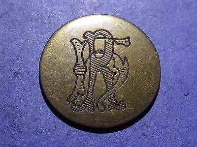 Brass Love Token both sides engraved