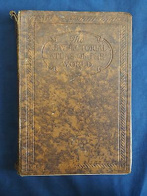Vintage The New Pictorial Atlas Of The World Odhams Press Ltd