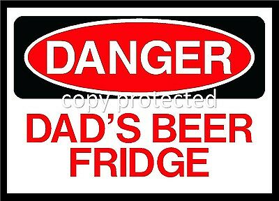 Danger Dads Beer Fridge Funny Magnet New Free Postage