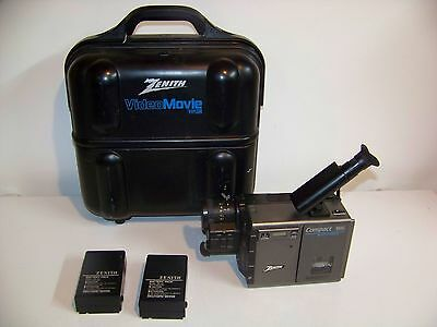 Zenith Video Compact Vhs Movie Camera With Hard Case- Untested