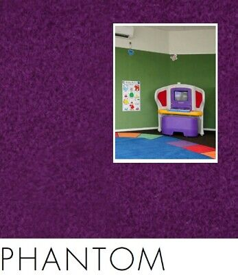 FreePost 2.16 sqm PURPLE (Phantom Pur03) Acoustic Fabric Peel n Stick Wall Tiles
