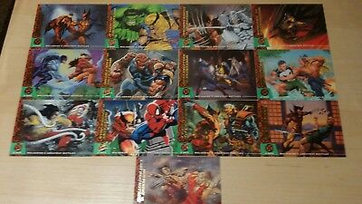 '94 Fleer Ultra Wolverine's Greatest Battles Trading Cards Whole Set of 13