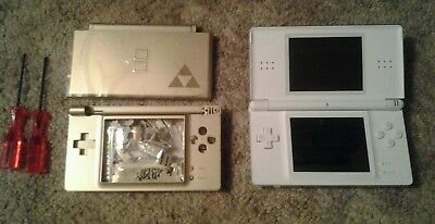 nintendo ds lite polar white handheld system picclick uk. Black Bedroom Furniture Sets. Home Design Ideas