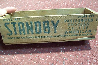 Vintage Standby American Cheese 2 Lb. Wooden Box Seattle Wash & Minneapolis, MN