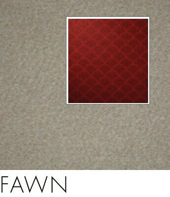 FreePost 2.16 sqm BROWN (Fawn Brn03) Acoustic Fabric Peel n Stick Wall Tiles