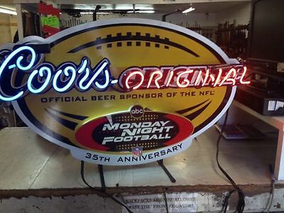 Coors Original Monday Night Football Neon Sign