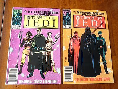 Return of the Jedi #1 & 2 of a FOUR ISSUE LIMITED SERIES Newsstand VFN